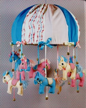 *OriginaL Vintage Sewing Pattern A Super Carousel Lampshade for Children